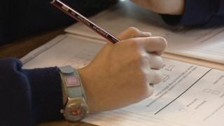 Pupil taking exam