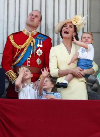 Принц Вільям та Кейт з дітьми спостерігають за літаками