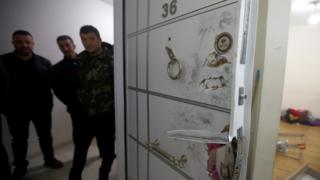 Abdülgadir Masharipov'un yakalandığı evin dış kapısı