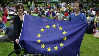 Partidarios de la permanencia de Reino Unido en la UE.
