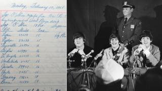 NYPD log book and The Beatles in February 1964