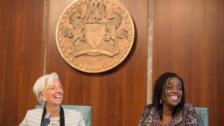 Kemi Adeosun na Christine Lagarde bụ onyeisi oche na IMF