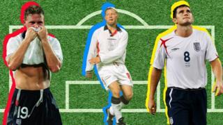 Paul Gascoigne in 1990, David Batty in 1998 and Frank Lampard in 2006