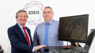 Bill Montgomery (left), director of advanced manufacturing and engineering at Invest NI and Andy Macpherson, from 3DEO NI