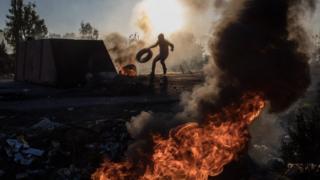 احتجاجات عنيفة في الضفة الغربية