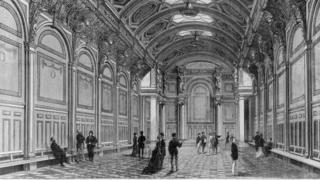 Şimdiki Büyük Salon'un eski hali