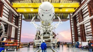 Crew Dragon and Falcon 9 rocket