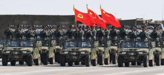 Chinese military parade in Inner Mongolia (file image)