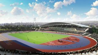 Inside the stadium artist impression