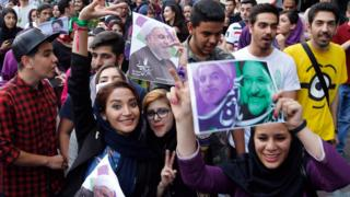 شادمانی هواداران روحانی