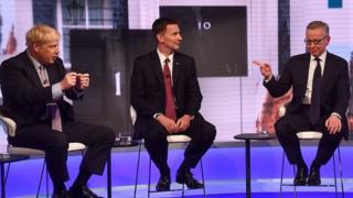 Boris Johnson, Jeremy Hunt and Michael Gove