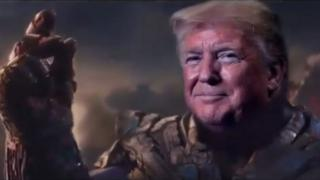 رأس ترامب على جسد ثانوس