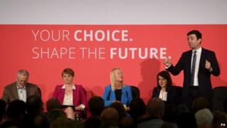 Labour leadership candidates, Jeremy Corbyn (left), Yvette Cooper, Liz Kendall and Andy Burnham
