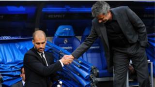 Pep Guardiola and Jose Mournho