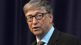 Bill Gates, Microsoft Co-Founder and Co-Chair of the Bill and Melinda Gates Foundation, speaks at the Royal United Services Institute in London