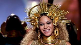 Beyonce for di 59th Grammy Awards as she dey perform