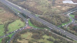 Aerial view of old Raith interchange