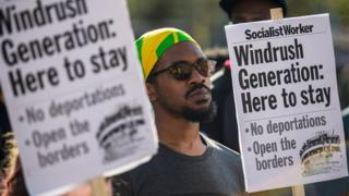Windrush protest in Brixton
