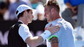 Andy Murray and Sam Groth