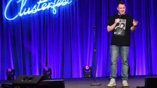 Shane Gillis performs at the Clusterfest comedy festival in San Francisco