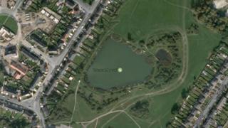 Pit pond next to Thurnscoe Reservoir near Tudor Street, Thurnscoe, Barnsley