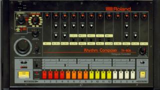 A picture of the much-loved TR-808 drum machine created by Ikutaro Kakehashi