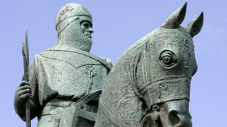 The statue of Robert the Bruce, near the site of the Battle of Bannockburn