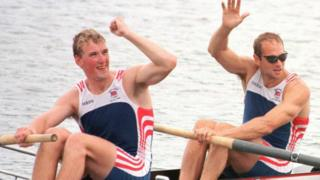 in_pictures Matthew Pinsent and Steve Redgrave win gold in Atlanta