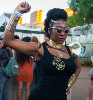 Festival goer at AfroPunk Johannesburg