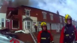 Footage from the fire scene