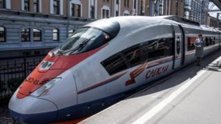 Sapsan high-speed train, Moscow