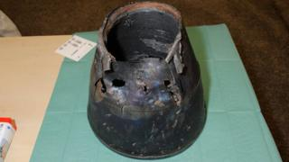 Damaged Venturi exhaust component from Buk missile