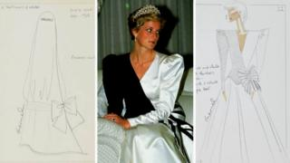 Princess Diana and dress designs