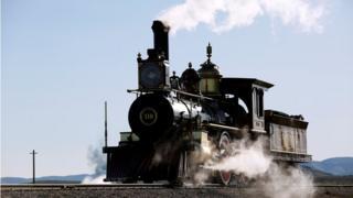 Replica of the historic 119 steam train