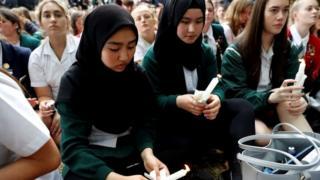 Vigil at Al Noor mosque, Christchurch