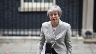英國首相特里莎·梅在唐寧街10號發表簡短聲明