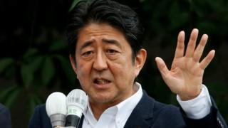 Ra'iisul wasaaraha Japan Shinzo Abe