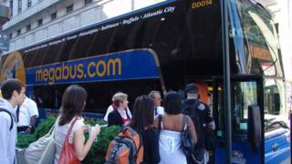 megabus.com coach in North America