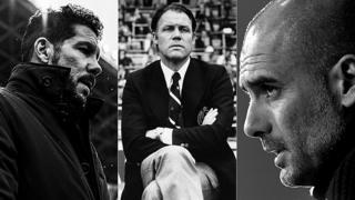 Diego Simeone, Rinus Michels y Pep Guardiola