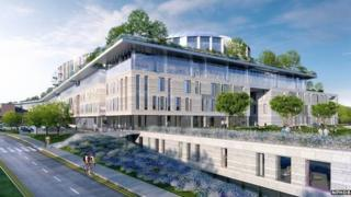 An artist's impression of the planned state-of-the-art children's hospital in Dublin