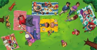 Image of families together from Rainbow Families book