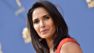 Padma Lakshmi attends the 70th Emmy Awards at Microsoft Theater on September 17, 2018