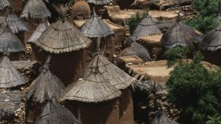 Thatch roof huts are seen in this file photo of a traditional Dogon village