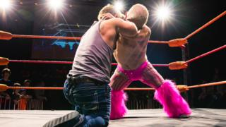 """Wrestlers said they were """"deeply upset"""" that shows had been cancelled"""