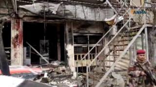 разрушенный ресторан