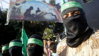 Hamas militants in Gaza Strip (file photo)