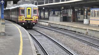 Belgian train (file pic)