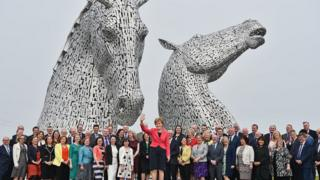 Ms Sturgeon at Kelpies