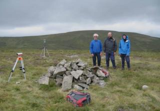 Summit of Miller Moss with (l-r) John Barnard, Jim Bloomer and Graham Jackson