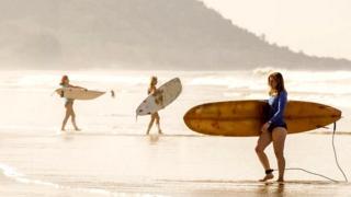 На пляже в Коста-Рике
